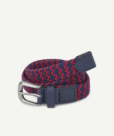 Accessories radius - RED AND NAVY BLUE PLAITED BELT