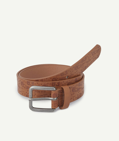 Accessories radius - BROWN PRINTED BELT IN FAUX LEATHER