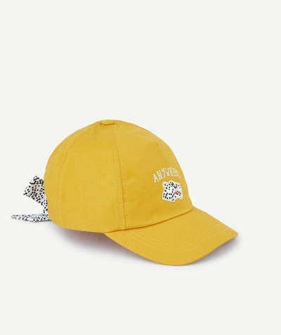 All Collection radius - SOFT CAP IN YELLOW WOVEN COTTON