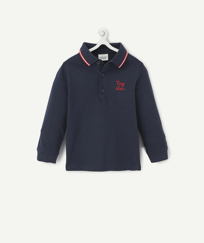 Shirt and polo radius - NAVY BLUE POLO SHIRT WITH RED EMBROIDERY