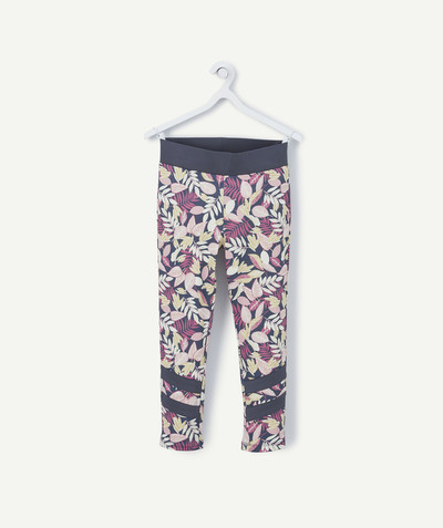 Outlet radius - SPORTS LEGGINGS WITH PRINTED FLOWERS