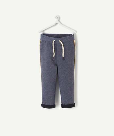 All collection radius - TROUSERS IN COTTON WITH CONTRAST PIPING