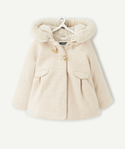 Coat - Padded jacket - Jacket radius - PINK WOVEN WOOL COAT WITH SEQUINS