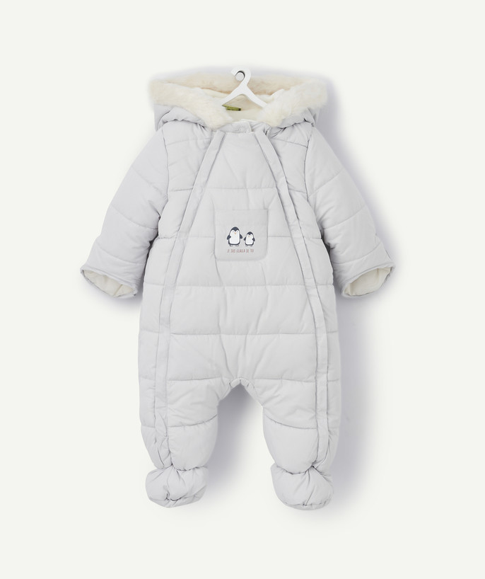 Clothing radius - GREY ALL-IN-ONE LINED IN SHERPA AND WITH A PENGUIN PRINT