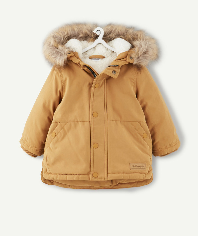 Coat - Padded Jacket - Jacket radius - MUSTARD PARKA LINED IN SHERPA