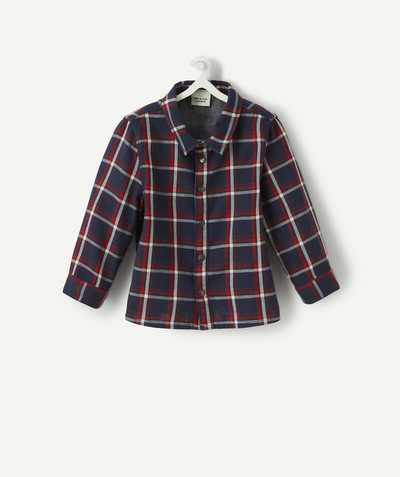 All collection radius - REVERSIBLE BLUE AND RED CHECKED SHIRT