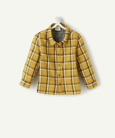 All collection radius - REVERSIBLE YELLOW AND BLUE CHECKED SHIRT