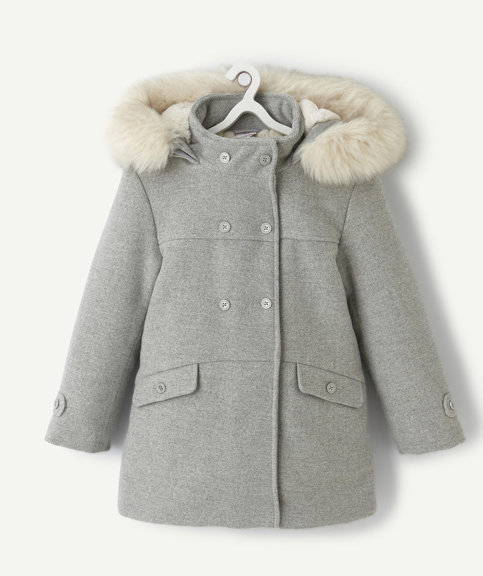 Coat - Padded jacket - Jacket radius - GREY COAT WITH A TOUCH OF SPARKLE
