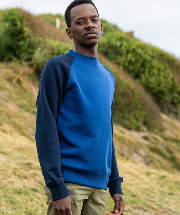 Sweat Rayon - LE SWEAT COLOR BLOCK BLEU ET NOIR