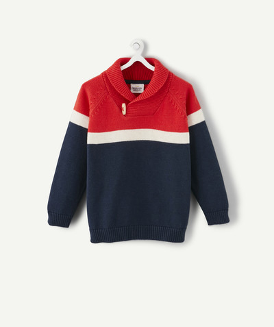 All collection radius - RED, NAVY BLUE AND GREY JUMPER