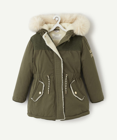 Outlet radius - KHAKI SHERPA-LINED PARKA