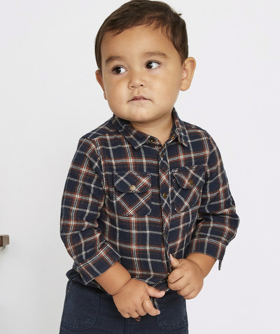 All collection radius - NAVY BLUE AND RED CHECKED SHIRT