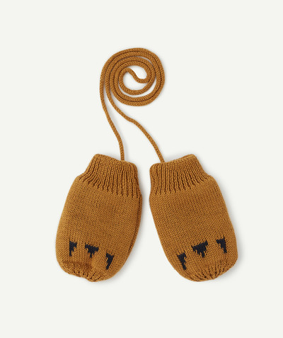 All collection radius - POLAR FLEECE-LINED CAMEL MITTENS