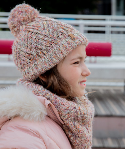 All Collection radius - HAT IN MULTICOLOURED KNIT WITH A POMPOM