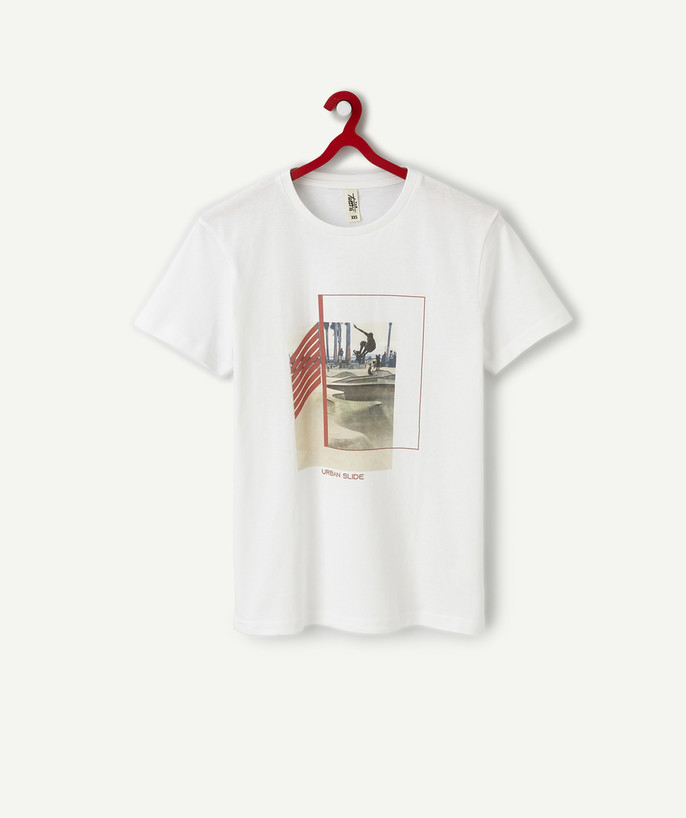 T-shirt radius - WHITE PHOTO PRINT T-SHIRT IN ORGANIC COTTON
