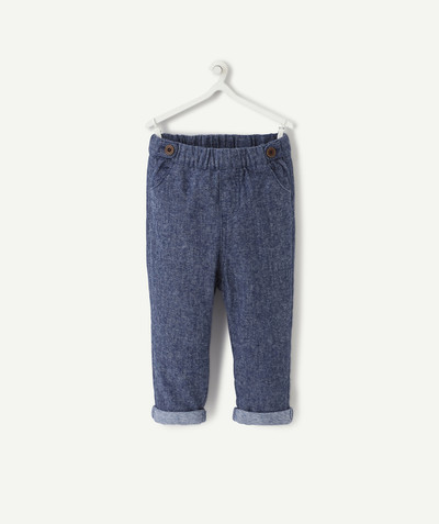 All collection radius - CHAMBRAY HAREM PANTS