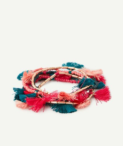 All Collection radius - ELASTICATED BRACELETS WITH TASSELS
