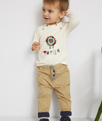 All collection radius - BEIGE HAREM PANTS WITH CORDS