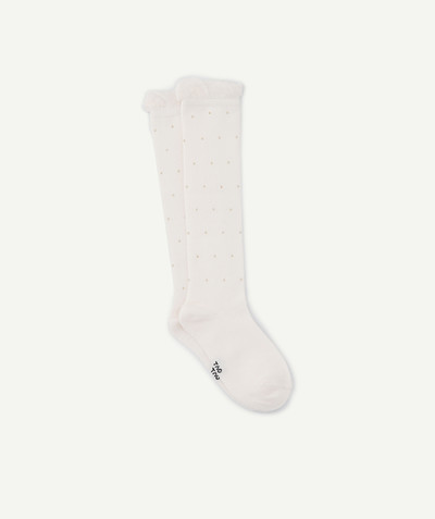 Outlet radius - LONG SOCKS IN PINK WITH GOLDEN BEADS