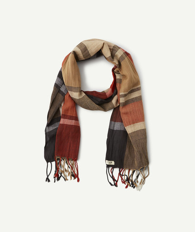 Outlet radius - STRIPED SCARF WITH FRINGES