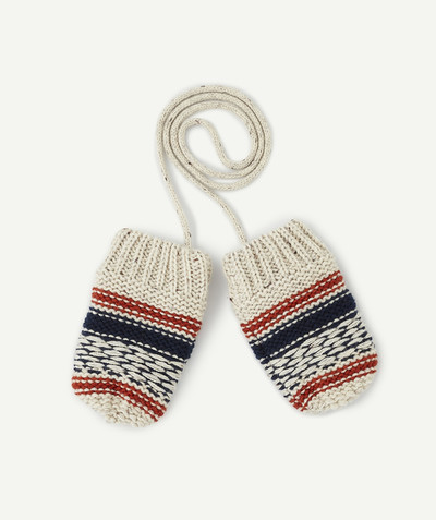 All collection radius - TRICOLOURED MITTENS LINED IN POLAR FLEECE