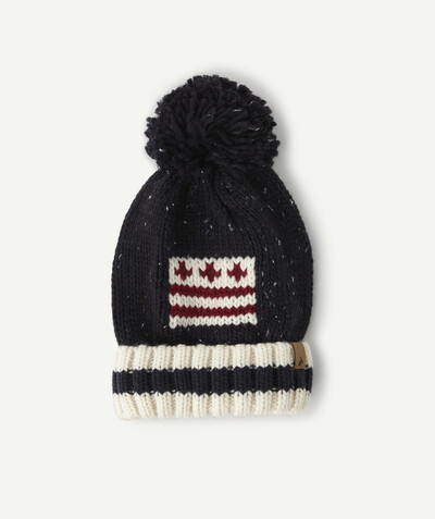 Accessories radius - KNITTED HAT WITH FLAG AND POMPOM
