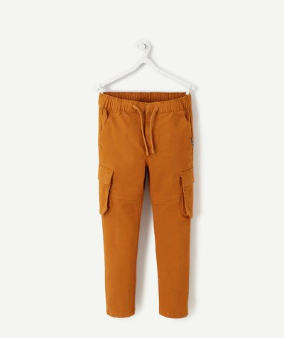 Trousers - Jogging pants radius - SLIM CAMEL TROUSERS WITH CARGO POCKETS