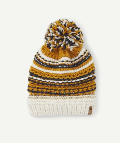 All Collection radius - YELLOW, BLUE AND WHITE KNITTED HAT