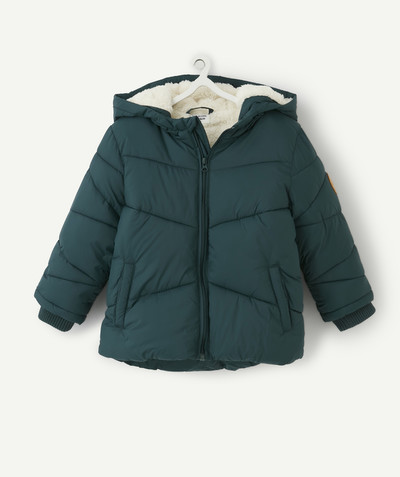 All collection radius - SAP GREEN PADDED JACKET LINED IN SHERPA