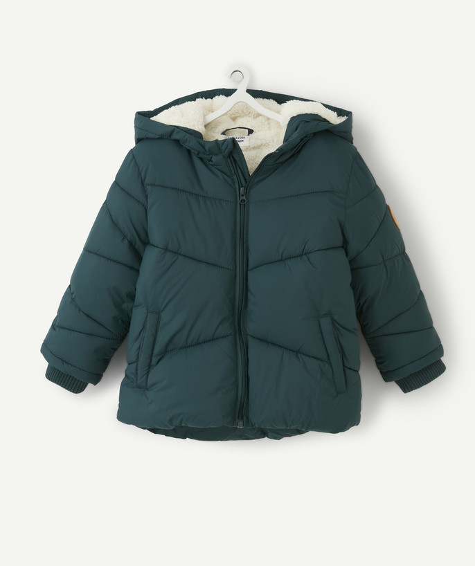 Coat - Padded Jacket - Jacket radius - SAP GREEN PADDED JACKET LINED IN SHERPA