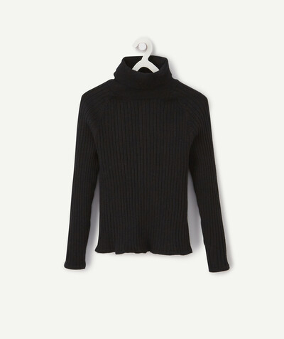 Knitwear radius - SPARKLING BLACK RIBBED JUMPER