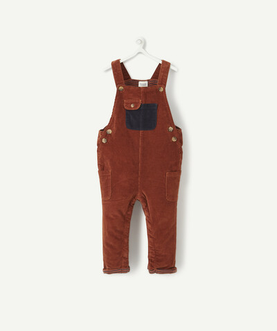 All collection radius - LINED DUNGAREES IN BROWN VELVET