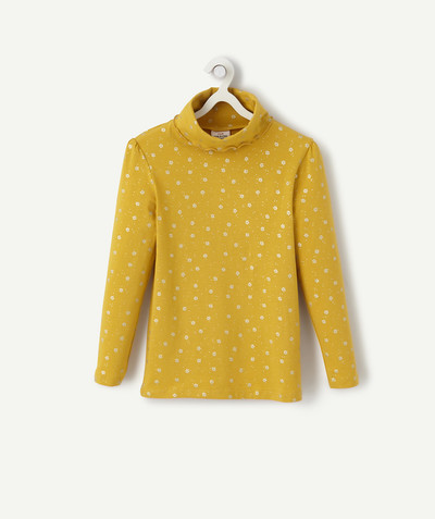 Basics radius - YELLOW TURTLENECK WITH WHITE FLOWERS
