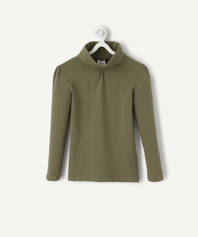 Basics radius - KHAKI TURTLENECK