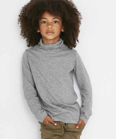 Roll-Neck-Jumper radius - GREY MARL TURTLENECK