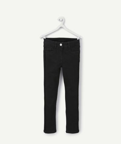 Outlet radius - SKINNY TROUSERS IN BLACK KNIT DENIM