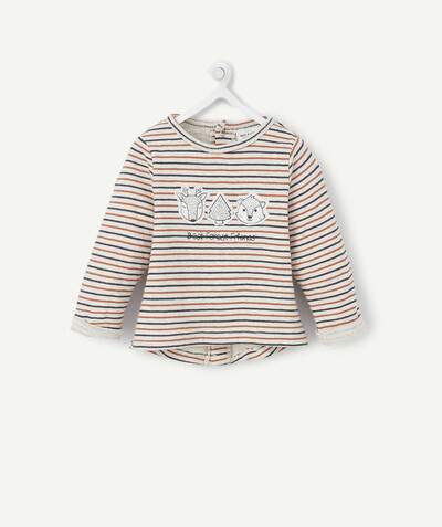 All collection radius - STRIPED T-SHIRT IN AN ORGANIC COTTON KNIT