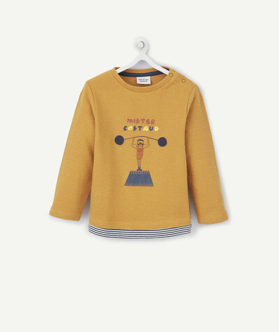 All collection radius - MUSTARD T-SHIRT IN ORGANIC COTTON