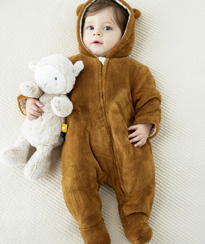 Essentials : 50% off 2nd item* family - FLUFFY BROWN ONESIE