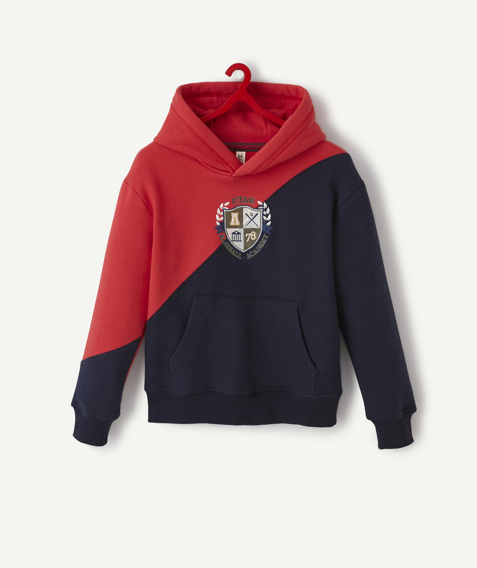 Sweat Rayon - LE SWEAT BRODÉ BLEU MARINE ET ROUGE