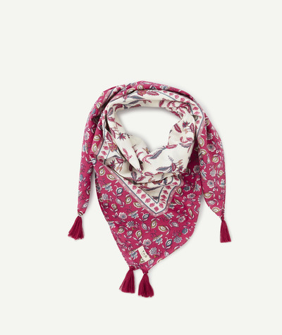 All Collection radius - PINK FLOWER-PATTERNED SCARF
