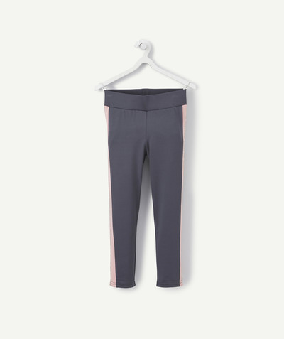 Outlet radius - GREY AND PINK SPORTS LEGGINGS