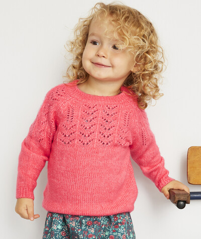 Collection ECODESIGN Rayon - LE PULL EN TRICOT ROSE EN FIBRES RECYCLÉES