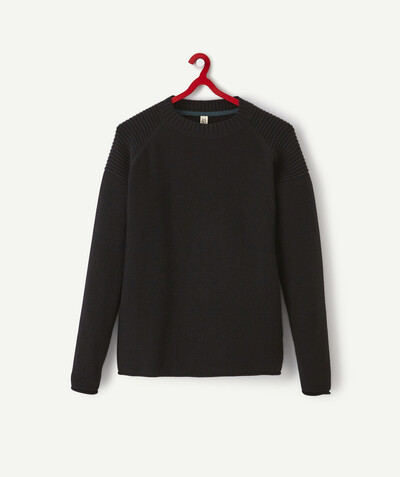Outlet radius - BLACK KNIT JUMPER