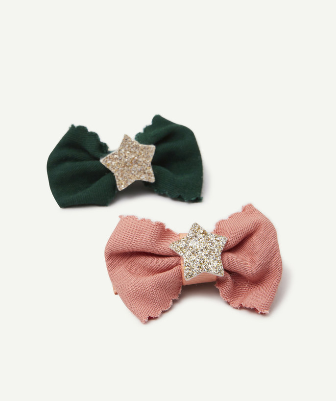 Baby-girl radius - TWO CLIP-IN BOW HAIR SLIDES