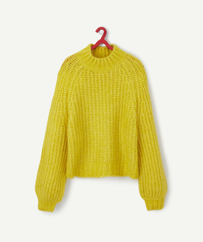 Pull - Gilet Sous Rayon - LE PULL EN TRICOT JAUNE