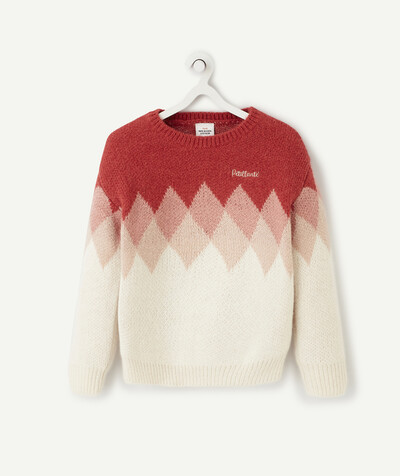 Knitwear radius - PINK AND CREAM KNITTED JUMPER