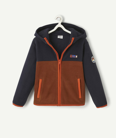 Sweat Rayon - LE SWEAT À CAPUCHE EN POLAIRE BICOLORE