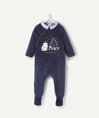 All collection radius - MIDNIGHT BLUE CHRISTMAS SLEEPSUIT