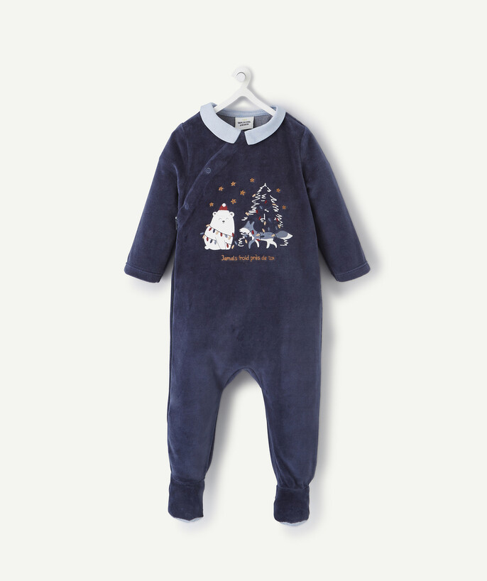 Essentials : 50% off 2nd item* family - MIDNIGHT BLUE CHRISTMAS SLEEPSUIT